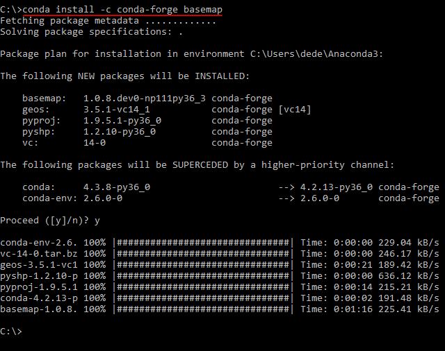 install basemap anaconda linux